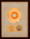 "Music Memorabilia:Awards, Elvis Presley RIAA Gold Record Sales Award for ""In The Ghetto""(1969)...."