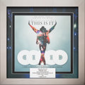 "Music Memorabilia:Awards, Michael Jackson In-House 5X Platinum Record Sales Record for ""ThisIs It.""..."