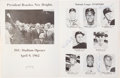 Baseball Collectibles:Others, 1962 All-Star Game Program Signed Twice by Roberto Clemente....