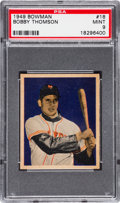 Baseball Cards:Singles (1940-1949), 1949 Bowman Bobby Thomson #18 PSA Mint 9 - Pop Four, None Higher....