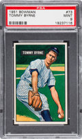 Baseball Cards:Singles (1950-1959), 1951 Bowman Tommy Byrne #73 PSA Mint 9 - Pop Four, None Higher....