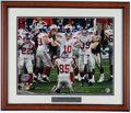 Football Collectibles:Photos, Eli Manning Signed Oversized Photograph....