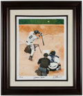 Baseball Collectibles:Photos, Derek Jeter and Mike Piazza Print by James Fiorentino....