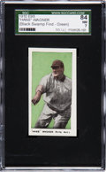 "Baseball Cards:Singles (Pre-1930), 1910 E98 ""Set of 30"" Hans Wagner - Green (Black Swamp) SGC 84 NM 7...."