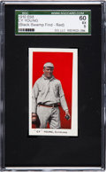 "Baseball Cards:Singles (Pre-1930), 1910 E98 ""Set of 30"" Cy Young - Red (Black Swamp) SGC 60 EX 5. ..."
