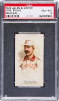 Baseball Cards:Singles (Pre-1930), 1888 N29 Allen & Ginter The World's Champions-2nd Series BuckEwing PSA NM-MT 8. ...