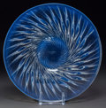 Art Glass:Lalique, R. Lalique Opalescent Glass Algues Coupe Plate. Circa 1933.Stenciled R. LALIQUE, FRANCE. M p. 308, No. 10...