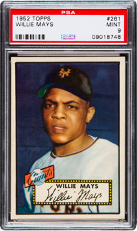 1952 Topps Willie Mays #261 PSA Mint 9