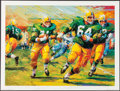 "Football Collectibles:Photos, Jerry Kramer and Jim Taylor Signed ""Packers Sweep"" Green Bay Packers Lithograph...."