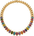Estate Jewelry:Necklaces, Multi-Stone, Gold Necklace, Bvlgari. ...