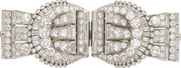 Diamond, Platinum, Double-Clip-Brooch, Tiffany & Co