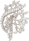 Estate Jewelry:Brooches - Pins, Diamond, Platinum Brooch, French. ...