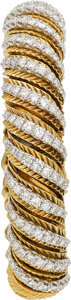 Estate Jewelry:Bracelets, Diamond, Platinum, Gold Bracelet Watch, Hammerman Bros.. ...