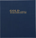 Hockey Collectibles:Others, Gold: A Celebration of the 1980 U.S. Olympic Hockey Team Book with Complete Team Signed Pages....