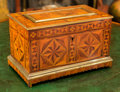 Decorative Arts, British:Other , An English Inlaid and Brass-Mounted Table Casket, late 19th century. 9-3/4 h x 16 w x 9-1/2 d inches (24.8 x 40.6 x 24.1 cm)...