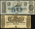 Obsoletes By State:Mixed States, Milledgeville, GA- State of Georgia $1 Jan. 1, 1864 Cr. 30. New Orleans, LA- New Orleans Canal & Banking Co. $50 18__ Re... (Total: 2 notes)