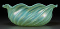 Art Glass:Tiffany , Tiffany Studios Green Pastille Glass Swirled Bowl. Circa 1908.Engraved L.C.T., 174C . Ht. 4 x Di. 10-3/4 in.. FROM TH...