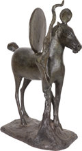 Post-War & Contemporary:Sculpture, Barry Flanagan (1941-2009). Cheval à deux disques, 1988.Bronze. 34 x 13-1/2 x 24-1/2 inches (86.4 x 34.3 x 62.2 cm). AP...