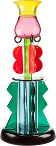 Art Glass:Other , Ettore Sottsass (Italian, 1917-2007). Clesitera, 1986, TosoVetro d'Arte for Memphis Milano. Polychrome glass. 19-5/8 in...