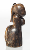 Post-War & Contemporary:Sculpture, Wang Keping (b. 1949). Untitled (Woman Figure). Wood. 16 x11 x 7 inches (40.6 x 27.9 x 17.8 cm). Inscribed signature to...