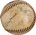 Baseball Collectibles:Balls, 1956 Brooklyn Dodgers & Others Signed Baseball with JackieRobinson. . ...
