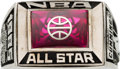 Basketball Collectibles:Others, 1985 Terry Cummings NBA All-Star Presentation Ring with Player Letter. ...