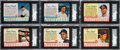 Baseball Cards:Sets, 1961-63 Post Cereal Baseball Near/Partial Set Trio (3) from The Gary Carter Collection. ...