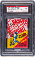 Baseball Cards:Unopened Packs/Display Boxes, 1970 Topps Baseball 6th Series 10-Cent Wax Pack PSA NM 7. ...
