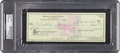 Golf Collectibles:Autographs, 1974 Sam Snead Signed Check....