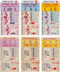Baseball Collectibles:Tickets, 1951 World Series Ticket Stubs Lot of 6....