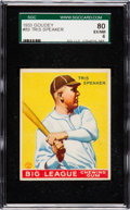 Baseball Cards:Singles (1930-1939), 1933 Goudey Tris Speaker #89 SGC 80 EX/NM 6....