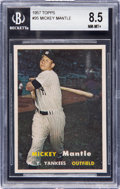 Baseball Cards:Singles (1950-1959), 1957 Topps Mickey Mantle #95 BGS NM-MT+ 8.5....