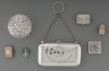Silver Holloware, British:Holloware, Seven Silver and Silver-Plated Shirley Temple Childhood Articles:Coin Purse and Trinkets, circa 1815-1940. Marks: (various)...(Total: 7 Items)