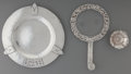 Silver Holloware, American:Other , Three Silver Table Articles from the Desk of Shirley Temple Black,20th century. Marks: (various). 8-3/8 inches diameter (21...(Total: 3 Items)