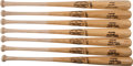 Baseball Collectibles:Bats, 1990's Monte Irvin and Josh Gibson Replica Bats Lot of 7 from the Monte Irvin Collection....