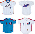 Baseball Collectibles:Uniforms, Gary Carter Signed Jerseys Lot of 4 from The Gary Carter Collection....
