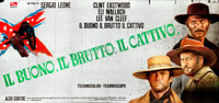 "The Good, the Bad and the Ugly (PEA, 1966). Italian Premiere 24 Sheet (Approx. 105"" X 223"") Franco Fiorenzi an..."