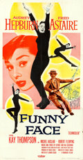"Movie Posters:Romance, Funny Face (Paramount, 1957). Three Sheet (41"" X 80"").. ..."