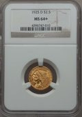 1925-D $2 1/2 MS64+ NGC. NGC Census: (3684/1013 and 97/33+). PCGS Population: (2417/631 and 114/32+). CDN: $650 Whsle. B...