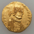 Ancients:Byzantine, Ancients: Constans II (AD 641-668). AV tremissis (1.39 gm). GoodVery Fine...
