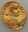Ancients:Byzantine, Ancients: Heraclius (AD 610-641). AV tremissis (1.42 gm). VeryFine...