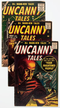 Uncanny Tales/Astonishing Group of 9 (Atlas, 1955-57) Condition: Average VG.... (Total: 9 Comic Books)