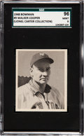 Baseball Cards:Singles (1940-1949), 1948 Bowman Walker Cooper #9 SGC 96 Mint 9 - Pop Two, None Higher....