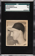 Baseball Cards:Singles (1940-1949), 1948 Bowman Warren Spahn #18 SGC 84 NM 7....