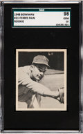 Baseball Cards:Singles (1940-1949), 1948 Bowman Ferris Fain #21 SGC 98 Gem 10 - The Ultimate SGCExample! ...