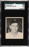 Baseball Cards:Singles (1940-1949), 1948 Bowman Floyd Bevins (SP) #22 SGC 98 Gem 10 - The Ultimate SGC Example! ...