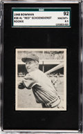 "Baseball Cards:Singles (1940-1949), 1948 Bowman Al ""Red"" Schoendienst #38 SGC 92 NM/MT+ 8.5 - Pop One,None Higher! ..."