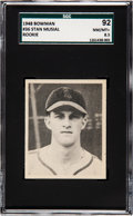 Baseball Cards:Singles (1940-1949), 1948 Bowman Stan Musial #36 SGC 92 NM/MT+ 8.5 - Pop Three, TwoHigher. ...