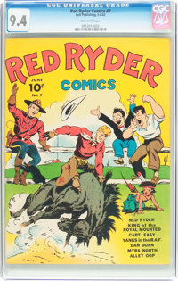 Red Ryder Comics #7 (Dell, 1942) CGC NM 9.4 Off-white pages