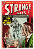Golden Age (1938-1955):Horror, Strange Tales #33 (Atlas, 1954) Condition: GD/VG....